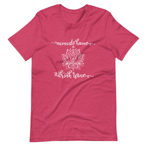 Namaste Home and Drink Wine Short-Sleeve Womens T-Shirt