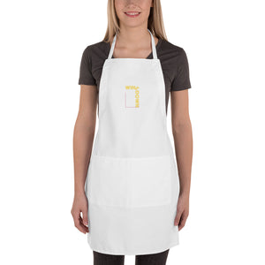 Wine Down Embroidered Apron
