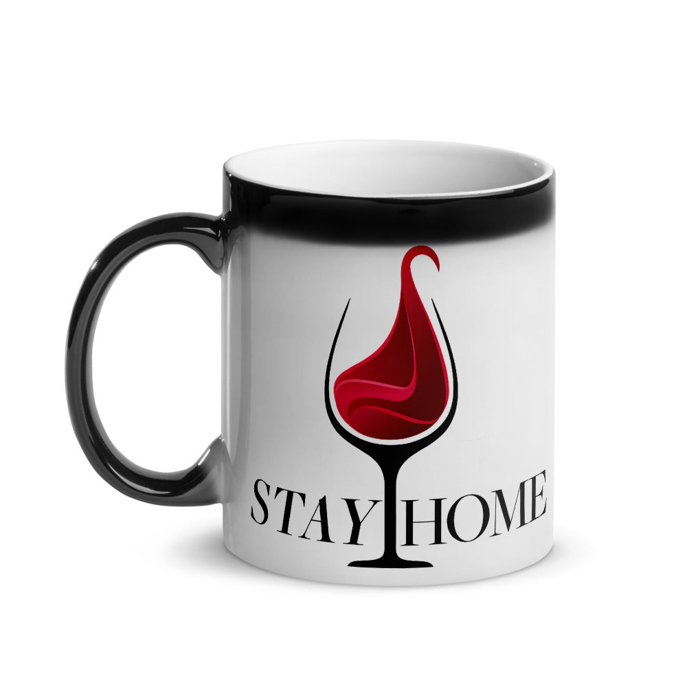 Stay Home Glossy Magic Ceramic Coffee Mug 11 oz