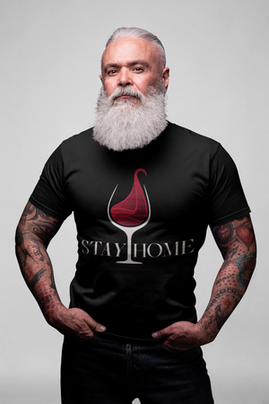 Stay Home Comfy Round Neck Drinking Unisex T-Shirt