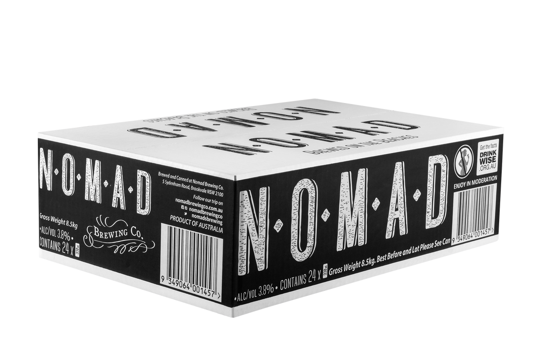 Nomad 330mL Range Sampler Box (range varies based on brew schedule) - 330ml Can - 12 Pack or 24 Pack