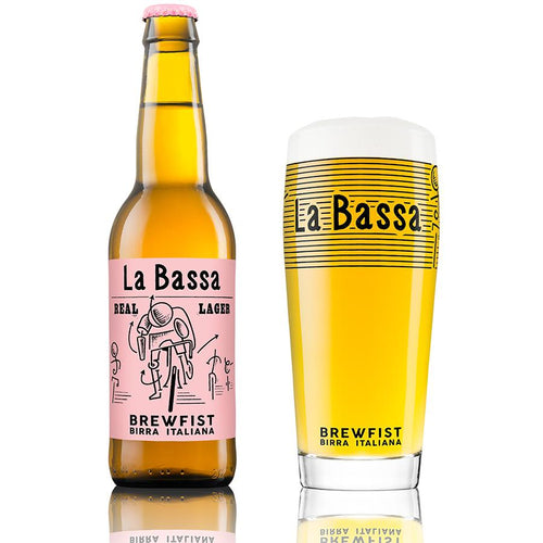 Brewfist - La Bassa - Italian Lager  -  330ml x 24 CASE Clearance