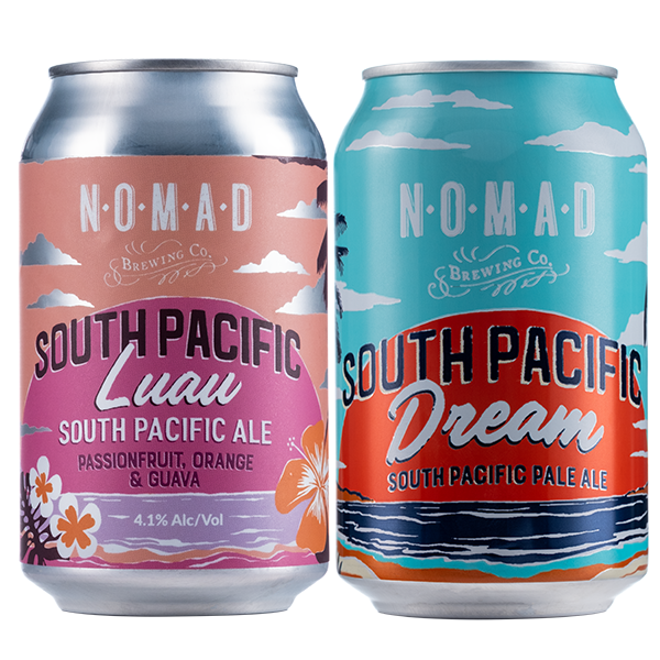 The South Pacific Mixed Set - 12 Original + 12 Luau - 330ml cans - 24 Pack