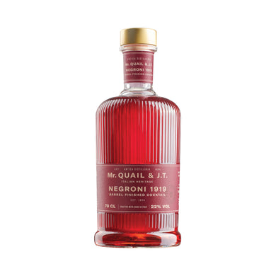 Mr Quail & Jerry Thomas - Negroni 1919 - Pre Mixed Cocktail - 700mL