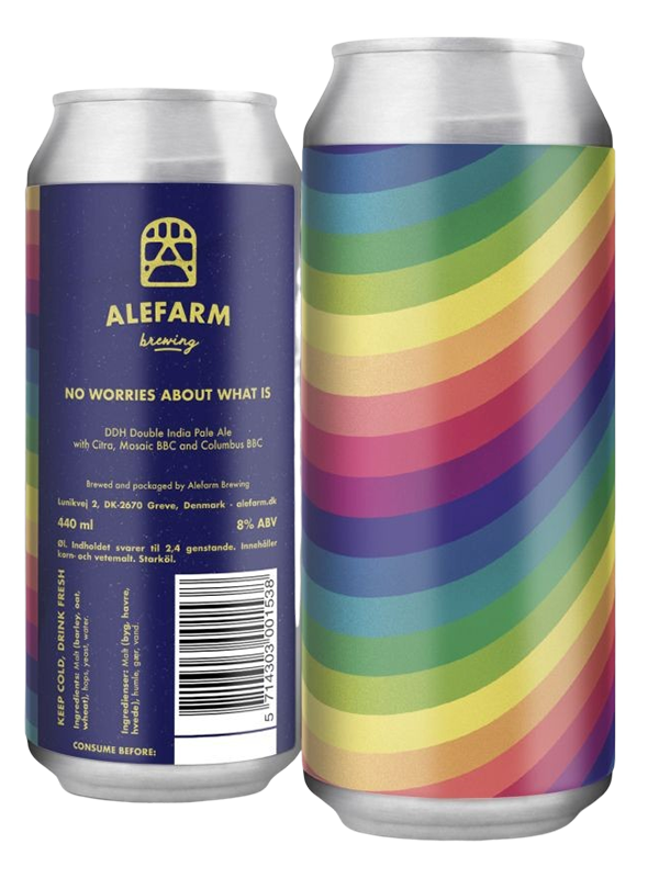 ALEFARM - No Worries About What Is - DDH Mosaic DIPA - 440ml.