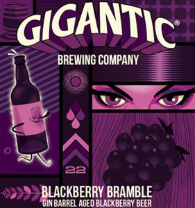 Gigantic - Blackberry Bramble - Gin Barrel Aged Blackberry Ale - 500ml.