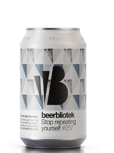 Beerbliotek - Stop Repeating Yourself -  Cognac barrel Aged Schwarzbier -  330mL.