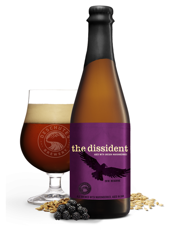 Deschutes - The Dissident Barrel Aged with Marionberries - Flanders Style Brown Ale Sour