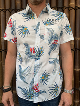 Load image into Gallery viewer, Mens - Hawaiian Shirt - White Flora Design