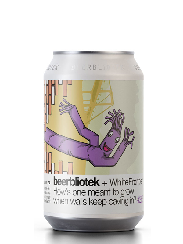 Beerbliotek - How's One Meant to Grow When Walls Keep Caving In -  Coconut Milk IPA -  330mL.