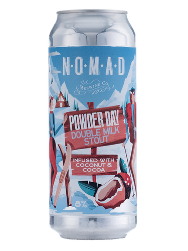 Nomad - Powder Day - Double Milk Chocolate & Coconut Stout - 500ml Can - 8%