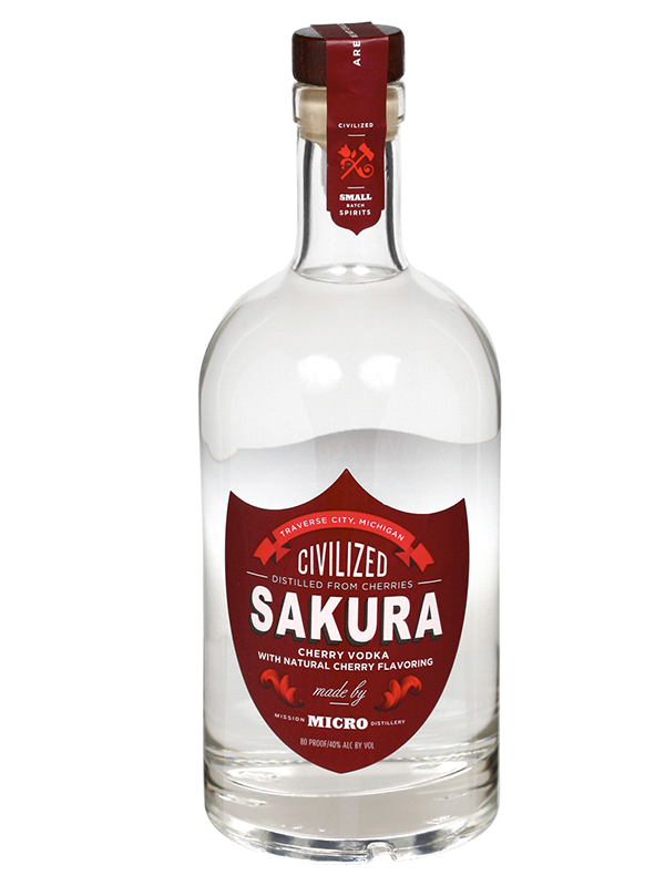 VODKA - Civilized SAKURA Small Batch Cherry Vodka   - 750ltr