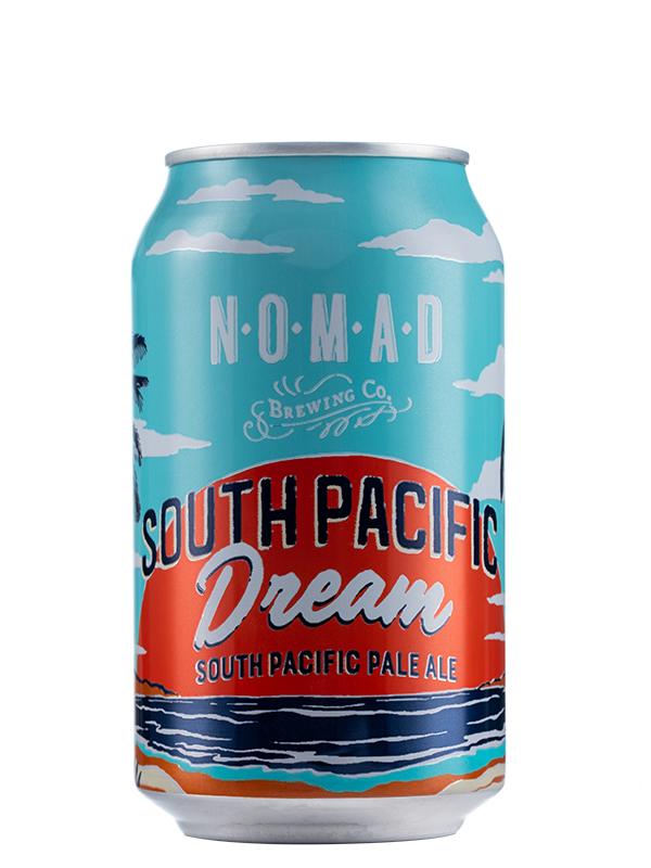 Nomad South Pacific Dream  - Pacific Ale - 330ml Can - 4.1% - BUNDLE.