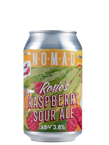 Nomad Rosie's Raspberry Sour Ale  - Fruit Sour - 330ml Can - 3.5% - Bundle