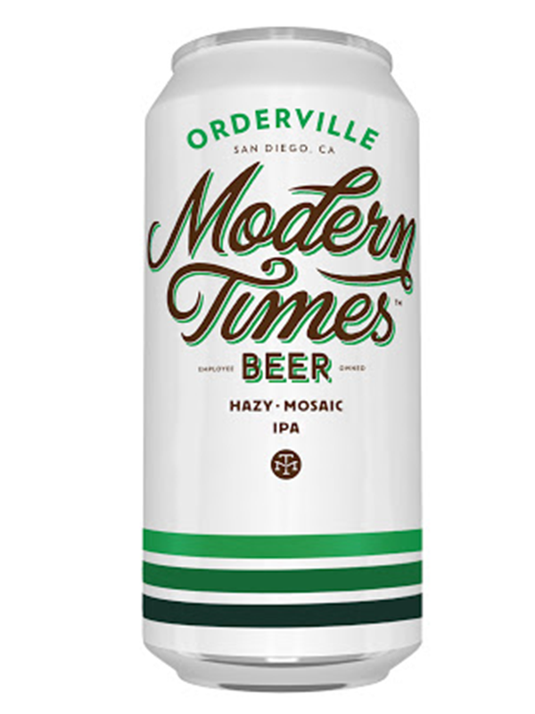 Modern Times - Orderville - Hazy Mosaic IPA -  473mL.