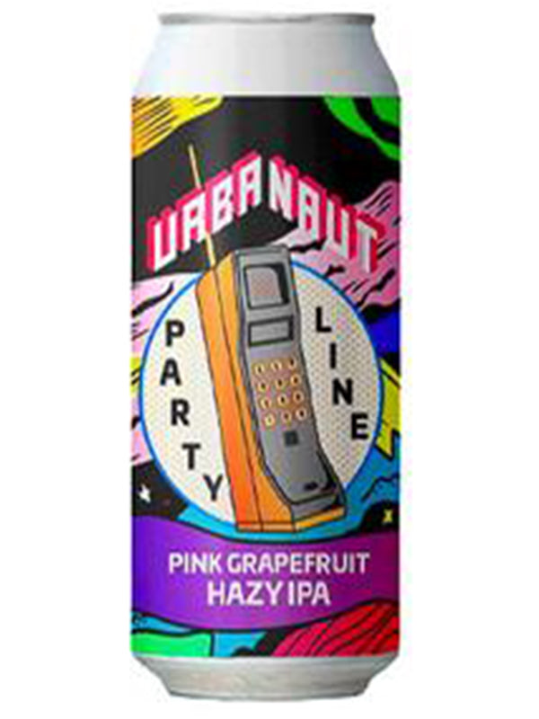 Urbanaut - IPA Party - Pink Grapefruit Hazy IPA - 440ml.