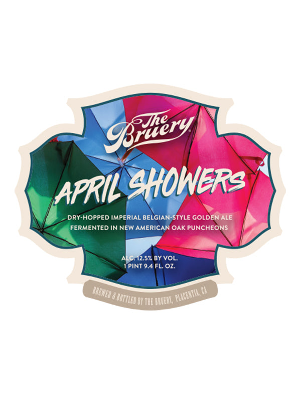 Bruery - April Showers Reserve  - Oak Aged Dry Hopped Imperial Golden - 750ml.