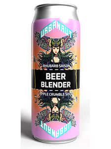 Urbanaut - Beer Blender - 2 cans = 3 beers - Rhubarb Saison + Apple Crumble Sour Can - 500ml