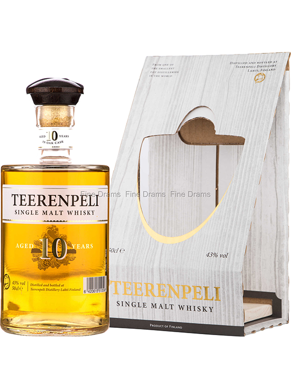 WHISKY -  Teerenpeli - 10 Year Old Single Malt Whisky - Finland - 500ltr