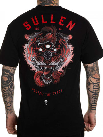 Sullen Men's 3 Eye Tiger Short Sleeve T-shirt