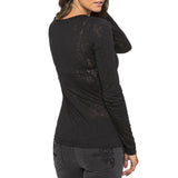 Metal Mulisha Juniors Alternative Burnout Long Sleeve Top Black Back