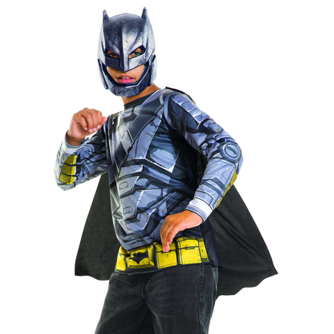Armored Batman Child's Costume Top and Mask (No Muscles)