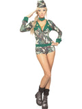 Sexy Wishes Women's Army Girl Costume - 888124
