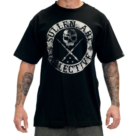 Sullen Men's Badge of Honor Blaq Short Sleeve Tee