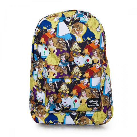 Loungefly Beauty and the Beast AOP Backpack
