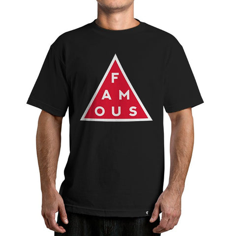 Famous Stars and Straps Men's Black Mass Tee