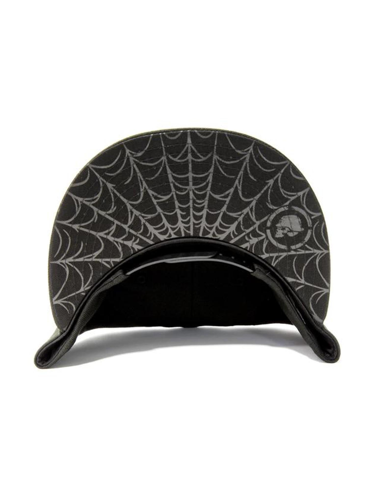 Metal Mulisha Men s Black Metal Snapback Hat with Spider Web Bill ... 18ec7c410635
