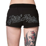 Metal Mulisha Women's Bomber Shorts Jet Black Back