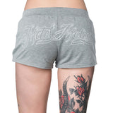 Metal Mulisha Women's Bomber Shorts Charcoal Grey Back