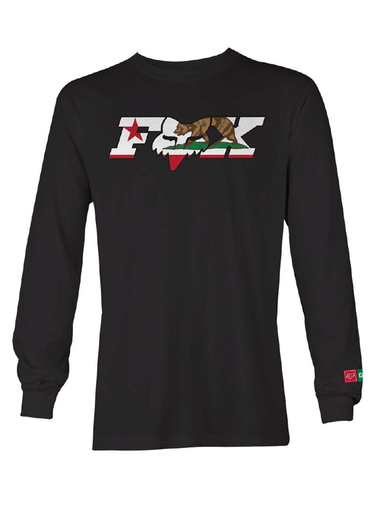Fox Racing Men's CA California Flag Long Sleeve T-shirt