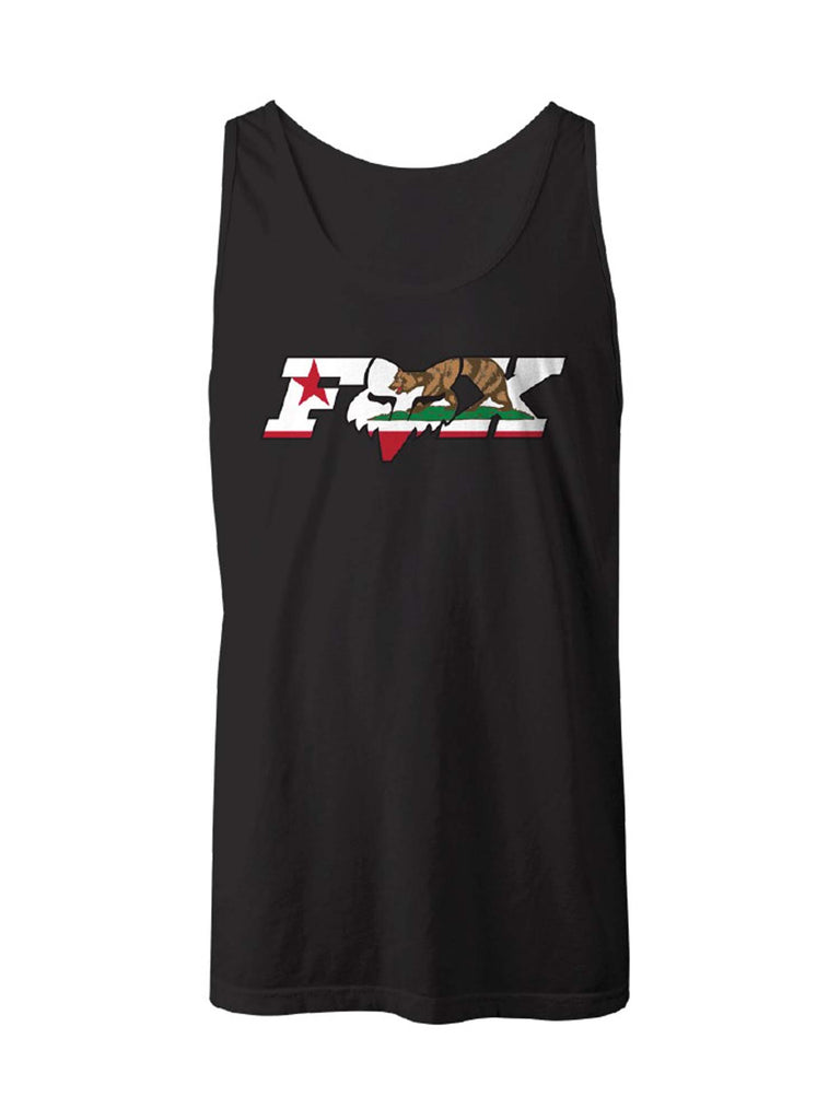 Fox Racing Men's CA California Flag Sleeveless Tank Top