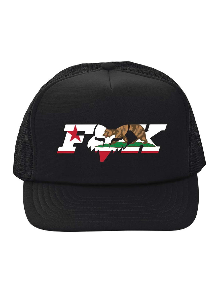 Fox Racing CA California Flag Trucker Snapback Hat