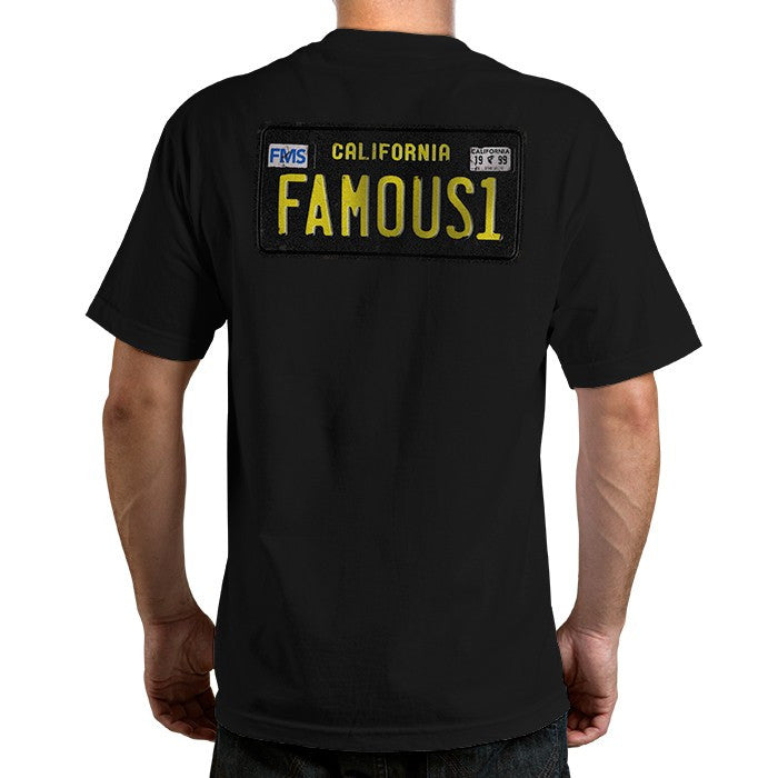 Famous Stars and Straps Cali Plate 60s Men's Tee Black Back