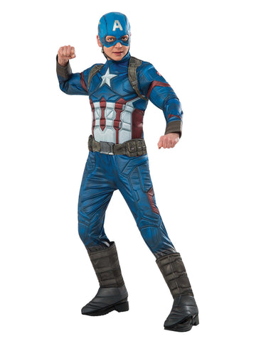 Rubies Children's Captain America Deluxe Costume - 620754