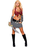 Sexy Wishes Women's Caribbean Treasure Pirate Costume - 888656