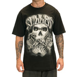 Sullen Color Crimes Mens Skull Tattoo Design Tshirt