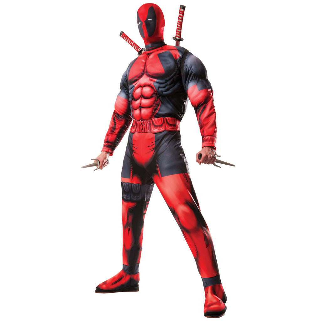 Deadpool Men's Deluxe Costume with Muscles