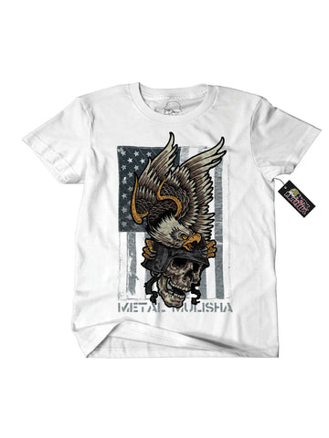 Metal Mulisha Men's Death By Skull DC Short Sleeve T-shirt