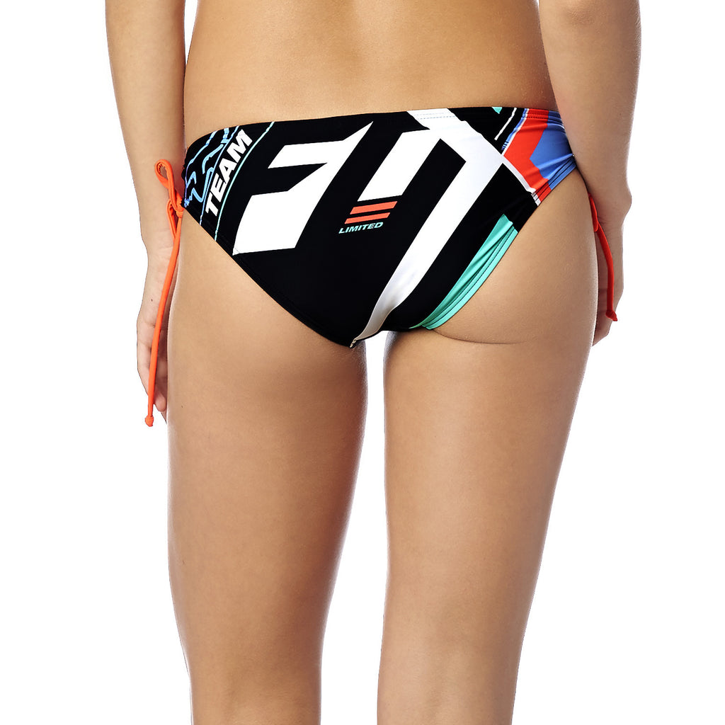 Fox Racing Women's Divizion Lace Up Bikini Bottom Sea Foam Back