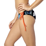Fox Racing Women's Divizion Lace Up Bikini Bottom Sea Foam Side