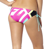 Fox Racing Women's Divizion Lace Up Bikini Bottom Fuchsia Back