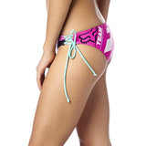 Fox Racing Women's Divizion Lace Up Bikini Bottom Fuchsia Side