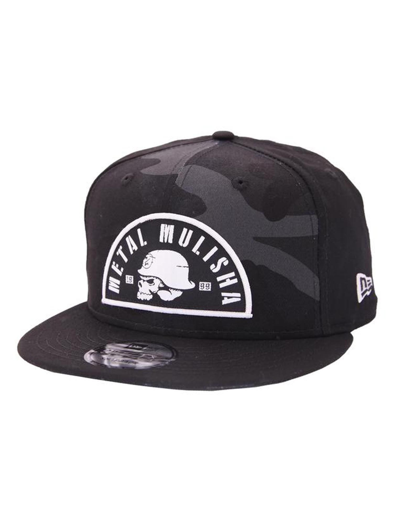 Metal Mulisha Men s Dusk New Era Snapback Hat Camo Skull and Helmet ... ab56b38bf5b5