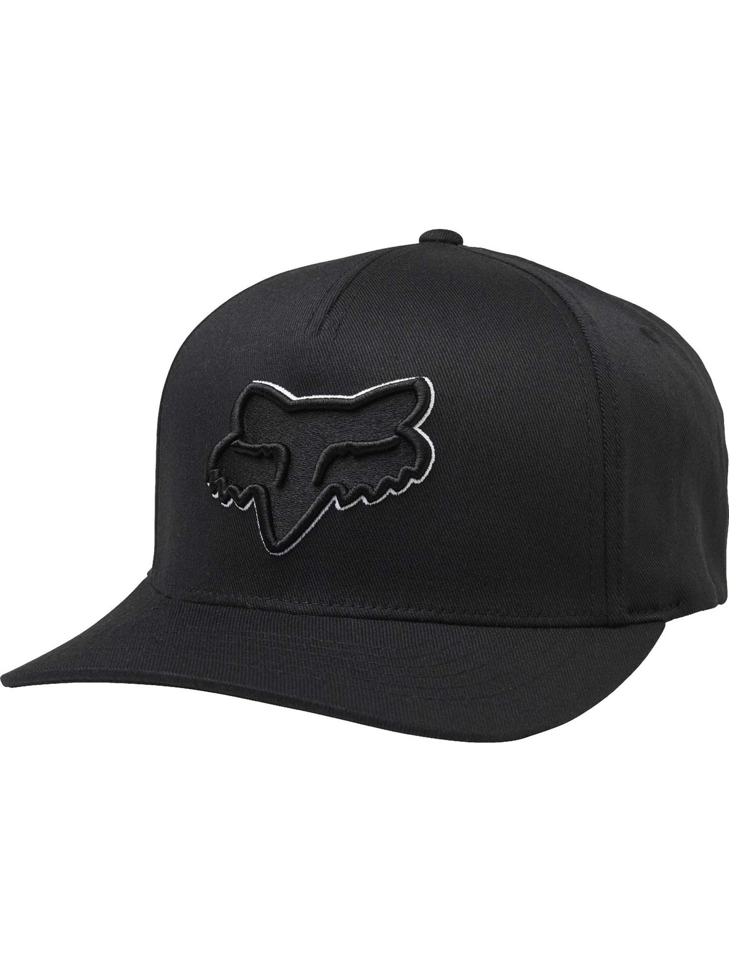 Black//White Fox Racing Mens Epicycle Flexfit Hat
