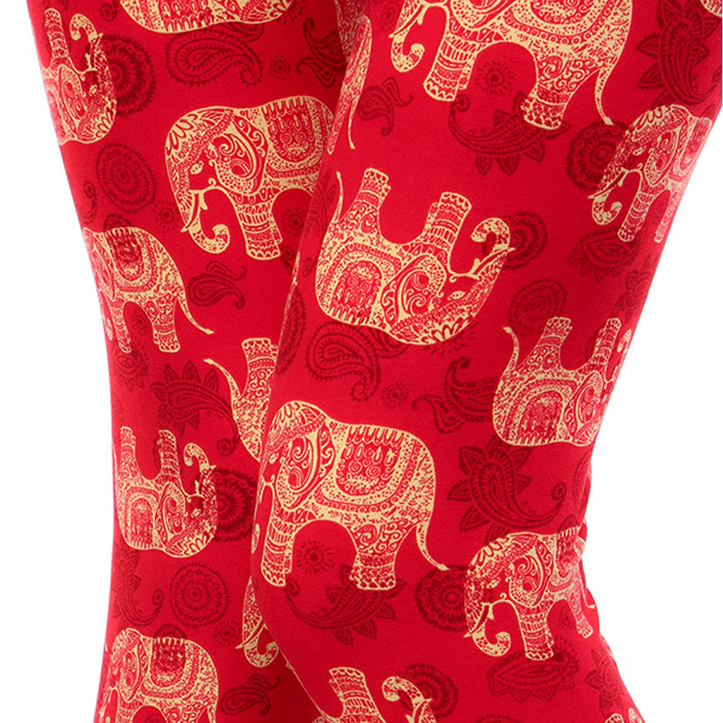 Vulcinity Ethnic Elephant Print Leggings