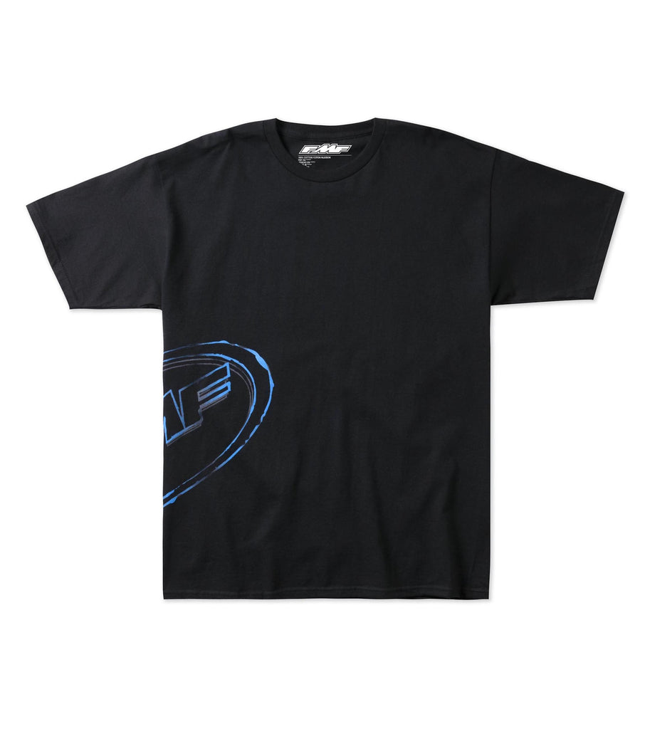 FMF Racing Mens Grease Tee With Blue Logo
